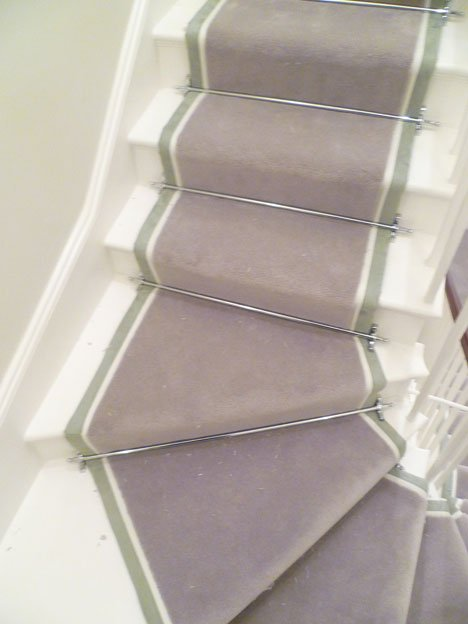 Solid Chrome Stair finished Runner