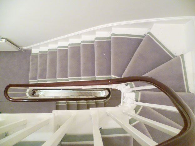 Westex Supreme stair runner finished with suede edges