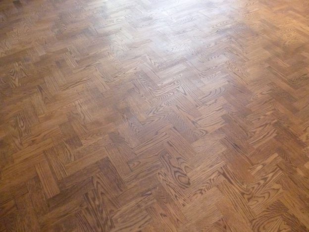 Stained and Oiled Wood Floor