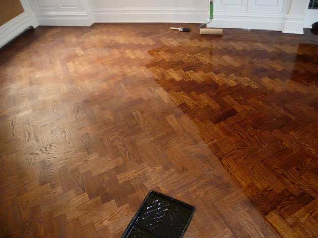Oiled and Stained Oak Floor