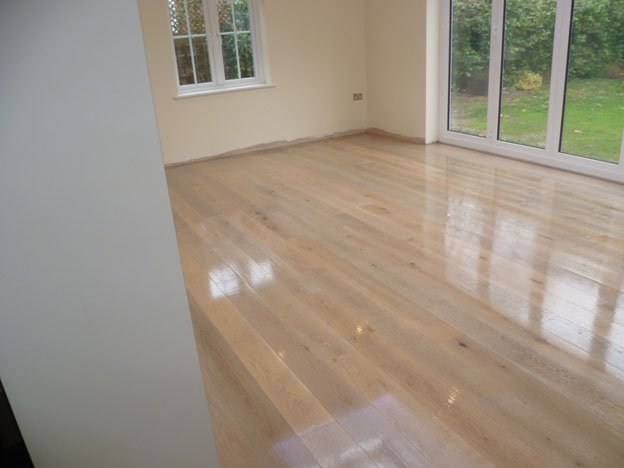 Oak flooring with oil finish