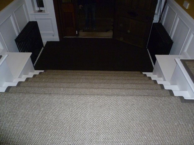 Sisal trading taped stairs