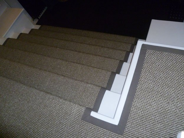 taupe taped carpet