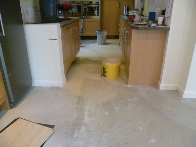 tiled flooring installation
