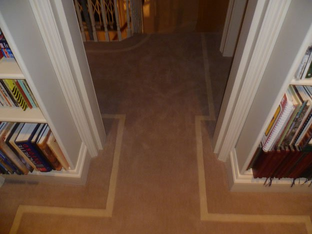 Inlay stripe with solid brass rods st johns wood for Flooring st augustine